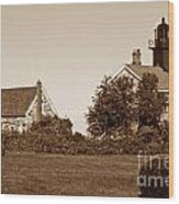 Old Field Point Lighthouse Wood Print