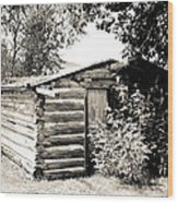 Old Log Homestead Wood Print