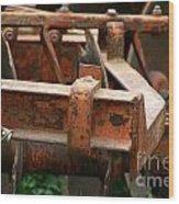 Old Mowing Machine Wood Print