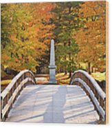 Old North Bridge Concord Wood Print by Brian Jannsen