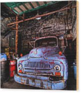 Old Pickup Truck Hdr Wood Print