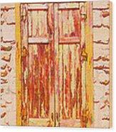 Old Shutter Wood Print