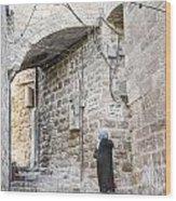 Old Town Street In Jerusalem Israel Wood Print