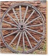 Old Wagon Wheel 2 Wood Print