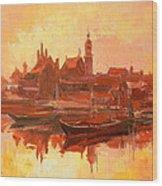 Old Warsaw - Wisla River Wood Print