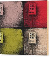 One Way Street Wood Print