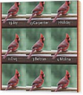 Opening Day Lineup Wood Print