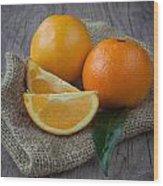 Orange Fruit Wood Print by Sabino Parente