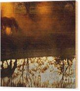 Orange Mist Wood Print