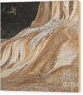 Orange Spring Mound At Mammoth Hot Springs Wood Print