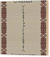 O'reilly Written In Ogham Wood Print