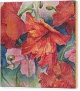 Oriental Poppies Wood Print