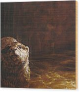Otter Curiosity Wood Print