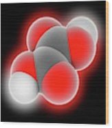 Oxalic Acid Molecule Wood Print