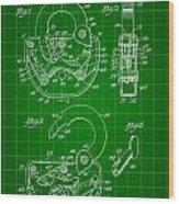 Padlock Patent 1935 - Green Wood Print