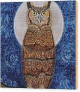 Paisley Moon Wood Print