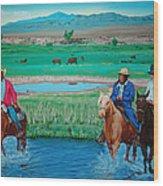 Paiute Cattlemen Wood Print