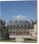 Palace Bussy Rabutin - Burgundy Wood Print