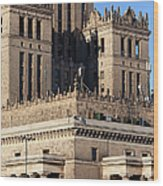 Palace Of Culture And Science In Warsaw Wood Print