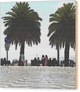Palm Mirage Wood Print