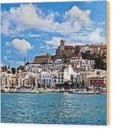 Panorama Of Ibiza Spain Wood Print