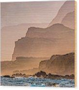Panoramic Of Molokais North Shore Sea Wood Print