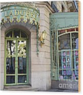 Paris Laduree Macaron French Bakery Patisserie Tea Shop - Champs Elysees - The Laduree Patisserie Wood Print