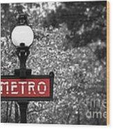 Paris Metro Wood Print
