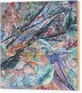 Pattern Of Leaves Wood Print