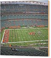 Paul Brown Stadium Wood Print by Dan Sproul