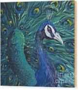 Peacock Wood Print by Willson Lau