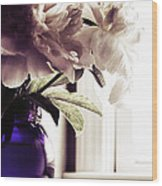 Peony Wood Print by HD Connelly