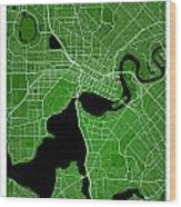 Perth Street Map - Perth Australia Road Map Art On Colored Backg Wood Print