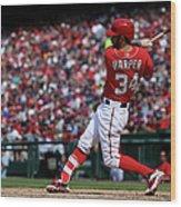 Philadelphia Phillies V Washington 2 Wood Print