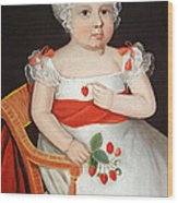 Phillips' The Strawberry Girl Wood Print