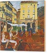 Piazza De Como Wood Print