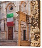 Pienza Tuscany Wood Print
