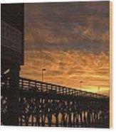 Pier Myrtle Beach Sc Wood Print