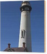 Pigeon Point Lighthouse Pescadero California Wood Print