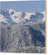 Pikes Peak Snow Wood Print
