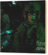 Pilots Equipped With Night Vision Wood Print