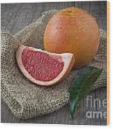 Pink Grapefruit Wood Print by Sabino Parente