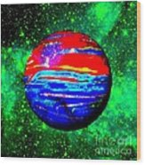 Planet Disector Red 1 Wood Print