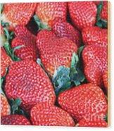 Plant City Strawberries Wood Print