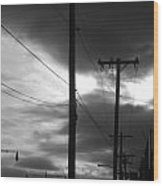Poles And Sunsets Wood Print