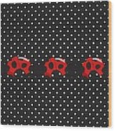 Polka Dot Lady Bugs Wood Print
