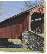Poole Forge Covered Bridge Wood Print