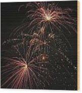 2 Pop Fireworks Wood Print