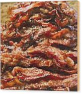 Pork Jerky-chinese Style Dried Meat Pieces Wood Print