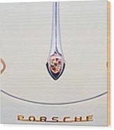 Porsche 1600 Hood Emblem Wood Print by Jill Reger